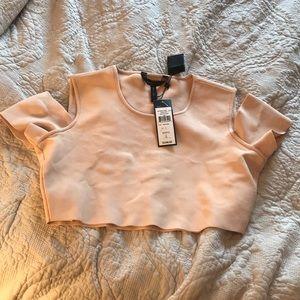 BCBGMaxAzira Miles Knit Sweater Crop Top Size L